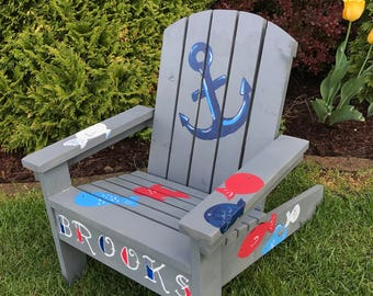 Custom Kids Adirondack Chair, Small Adirondack Chair, Child Size Chair, Personalized  Adirondack Chair