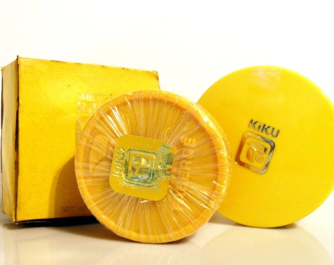 Vintage 1960s Kiku by Faberge Perfumed Soap and Case with Box