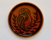Owl Design Pottery Dish by North Devon Pottery