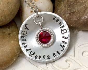 A Friend Loves at All Times - Proverbs 17:17 Necklace - Christian Necklace - Best Friend Necklace - Pewter Necklace - Swarovski Crystal