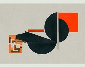 Mid Century Modern, Mid Century Modern Art, Geometric Art, Abstract Art Print, Wall Art, Modern Art - Limited edition (20)