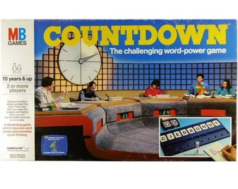 Countdown Original Vintage 1980s Retro Board Game from MB Games