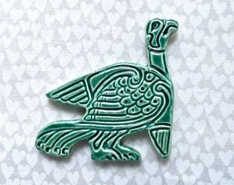 Celtic Bird - Ceramic Tile - Mosaic Supply