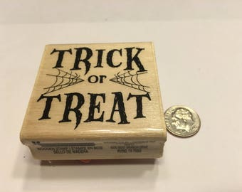Trick or Treat rubber stamp, 45 mm (BB7)