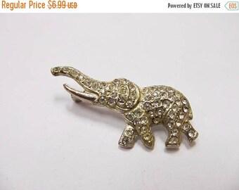 On Sale Vintage Rhinestone Elephant Pin Item K # 3005