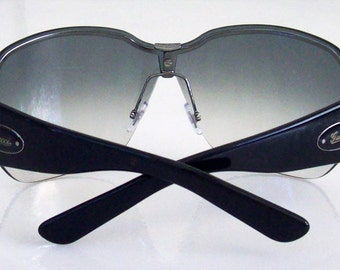 Authentic Old Stock Gucci Black Aviator metal Sunglasses GG2765 Made in Italy Medium size, Gucci case, Mint, for Men.