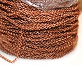 32ft Red Copper Rolo Chain 2mm cable chain-unsoldered links
