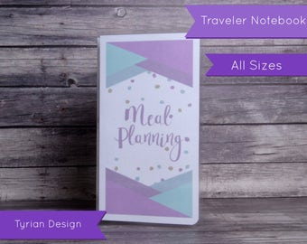 Meal Planning Dashboard for Traveler's Notebook - Various Sizes with pocket option - Meal Planning - All Sizes