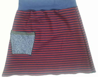 small skirt medium skirt re purposed OOAK hand made eco fashion clothing indie bohemian style gypsy junk fashion By Upcycled Swag