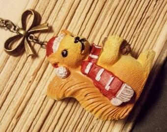 Christmas Squirrel Pendant