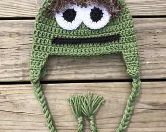 Crochet Oscar the Grouch Inspired Hat