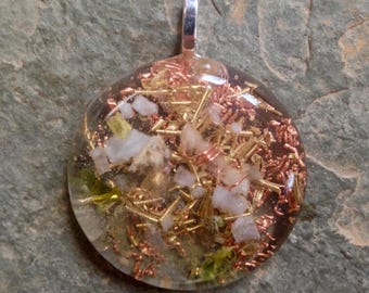 Orgone Pendant Calm Compassion Anxiety Relief Crystal Healing Jewelry