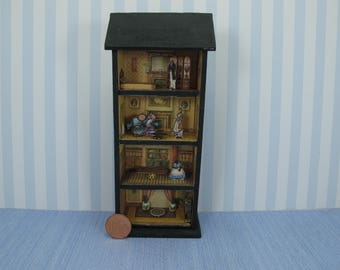 Dollhouse miniature dollhouse toy 1:48 QS Quarter Inch Scale Furniture OOAK diorama house Dollhouse toy house full equiped