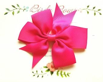 Hot Pink Bow Clip, Baby Headbands, Infant Headbands, Baby Girl Headbands, Infant Bow, Baby Bow, Girl Bow,Girl Headbands