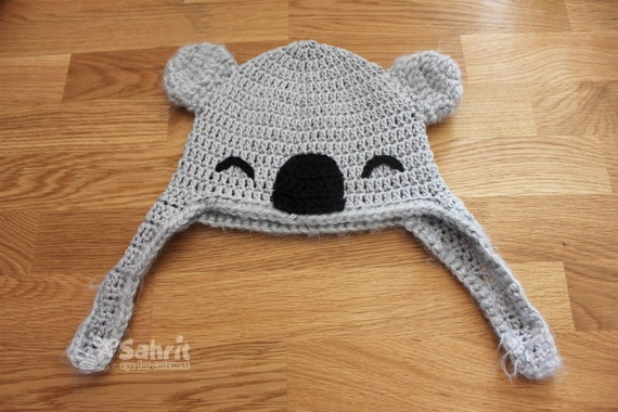 Pattern instant download koala hat and booties baby