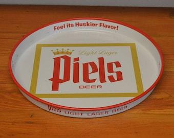 Vintage Piels Beer advertising serving tray metal drink tray