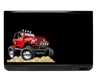 Jeep 4x4 Monster Truck Decal | jeep wrangler Truck Laptop Decal Truck macbook decal monster trucks jeep sticker jeep girl jeep sticker decal