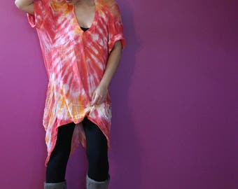 Shredded Tie Dyed Shirt ~ slowshine