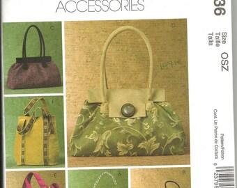 McCalls 4936 uncut womans handbag pattern