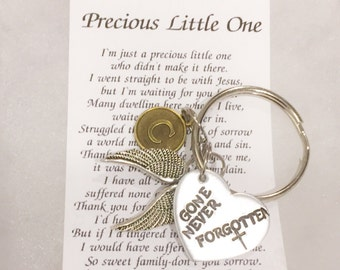 Infant loss, gone never forgotton hand stamped, personalized, customizable, precious little one poem, SIDS, infant death