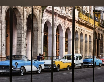 Along The Prado, Havana, Cuba, McArthur Vertical Wood Blocks