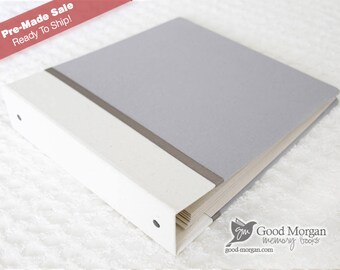 Baby Memory Book - Deluxe 1st Year - Solid Soft Grey