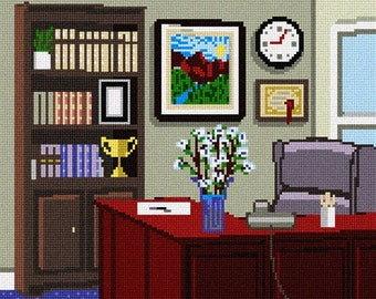 Needlepoint Kit or Canvas: Office Space