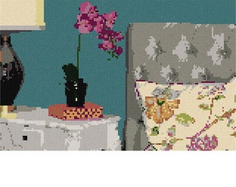 Needlepoint Kit or Canvas: Bed Table