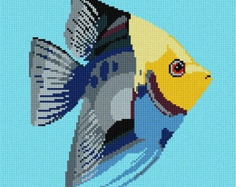 Needlepoint Kit or Canvas: Tropical Fish 6