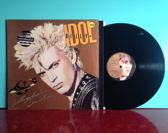 BILLY IDOL Whiplash Smile Vinyl Record Album LP 1986 In Shrink New Wave Punk Rock Pop Dance Near Mint Condition Vintage