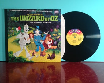 The WIZARD Of OZ Walt Disney Story And Songs Soundtrack Vinyl Record Album LP 1969 Gatefold Over The Rainbow Near Mint Condition Vintage