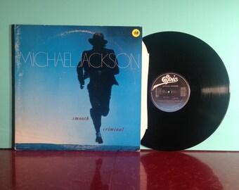 "Michael Jackson Smooth Criminal 12"" Maxi Single Vinyl Record 1988 45 RPM Rock Pop Dance Funk Soul Very Good + Condition Vintage"