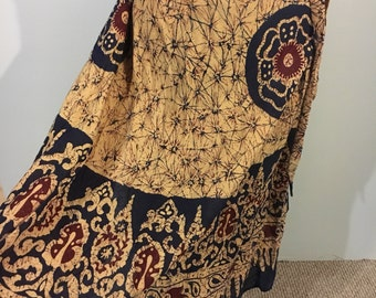 New 1970s cotton wrap skirt