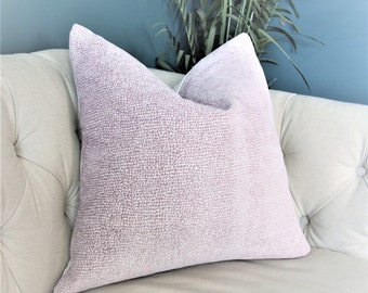 Purple Animal Print Chenille Pillow Cover - Rubelli - Soft Plush Lavender Throw Pillow - Faux Fur Toss - Pastel - Lilac