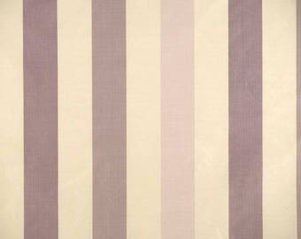 SCALAMANDRE CLASSIC STRIPE Silk Taffeta Stripe Fabric 10 Yards Purple Cream