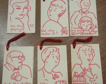 11 Vintage bridge tally cards - bridge tallies - paper ephemera