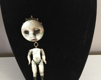 Creepy Doll Brooch