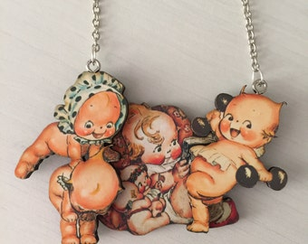 Playful Kewpie Doll Necklace