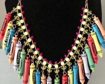 Creative Crayon Necklace