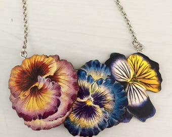 Pretty Pansies Necklace