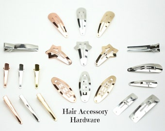 Hair Clips // Alligator Clips // 40mm Snap Clips // 50mm Snap Clips // Rose Gold Hair Clips // Gold Hair Clips // 20 DIY Hair Clip