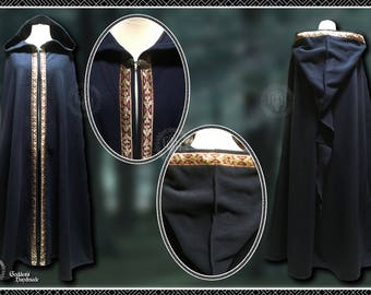 Fleece Cloak with Braid, Ritual Robes, Handfasting, Witch, Wicca, Druid, Medieval, Elven