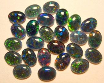 Opal Stones Natural Triplet Parcel Lot 8x6mm Oval 25 Piece's. item  110361.