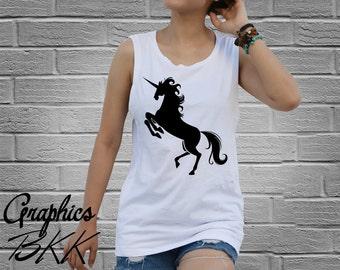 UNICORN Shirt Graphic Women's Tank Top Shirt unicorn t-shirt funny Slogan shirt top tee (XS-L) Free Shipping
