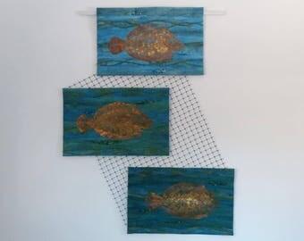 Floundering - art quilt