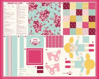 HOWDY Girl Doll Panel with 16 Fat Quarters Fabrics to match by Stacy Iest Hsu for Moda