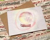 Winter/Seasonal/Christmas Hare Greetings Card - White 340gsm 105mm x 148mm *Blank Inside*