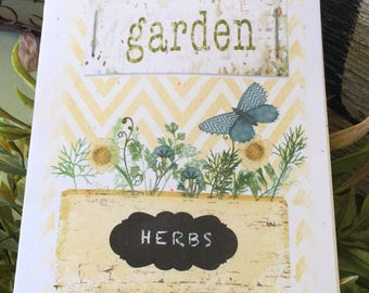 Garden Herbs Birthday Card