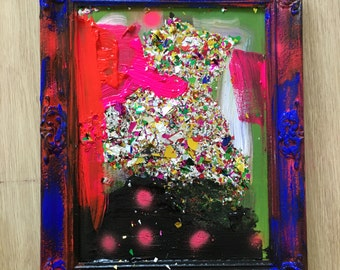 Mixed Media Painting made with Acryl Paint abstract art by artist Jane Blanchett