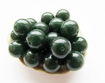 10 Green Chalcedony Beads Natural Polished 12 mm Chalcedony Green Beads Natural Round Stone Beeads Jewelry Supplies